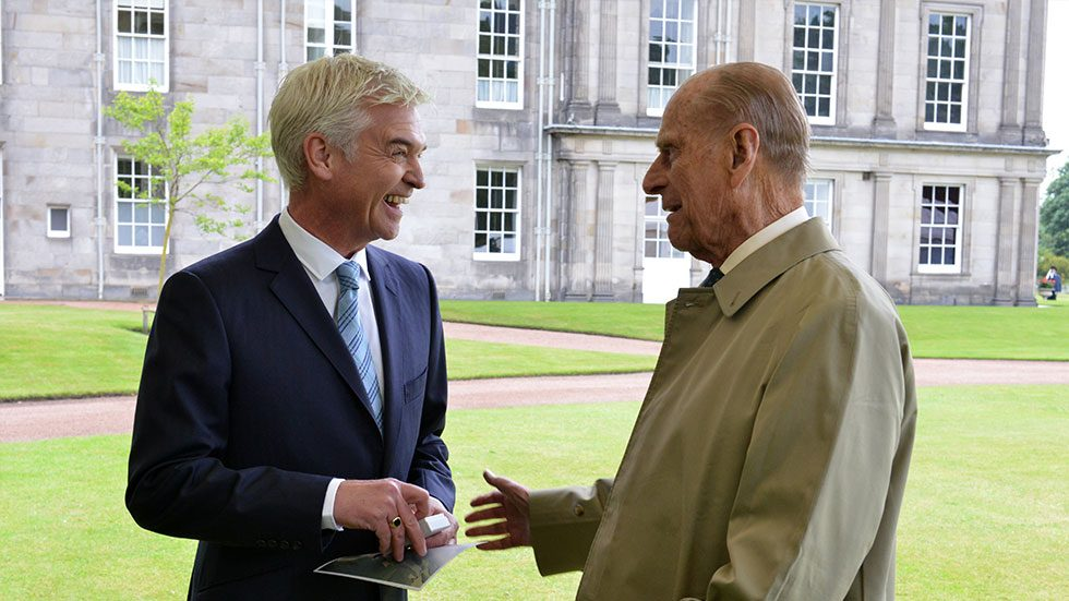 Phillip Schofield and Price Philip